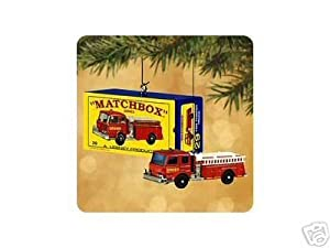 2002 29- C Fire Pumper Set Matchbox Miniatures (50th Anniversary) Set of 2 Hallmark Keepsake Ornaments