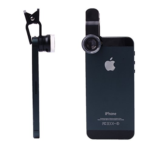 Xcsource Clip 6X Hd Super Micro Lens For Iphone 4/4S/4G/ 5 /5G /5S /6, Samsung Galaxy S3 I9300 S4 I9500 Note 1/ 2 /3, Htc One / Nexus 5 All Smartphones Black Dc510