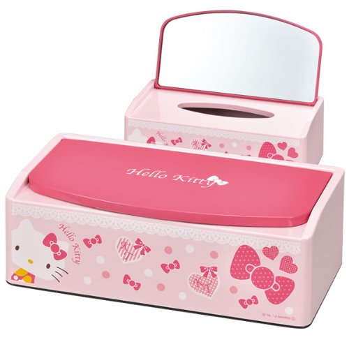 Tissue case tissue box Hello Kitty Ribbon mirror with tissue PK 83933