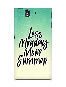 AMEZ less monday more summer Back Cover For Sony Xperia Z