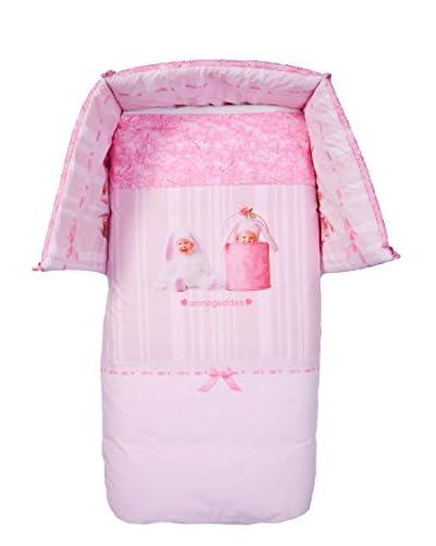 Anne Geddes Juego De Cama Con Chichonera Pink Bunnies Rosa