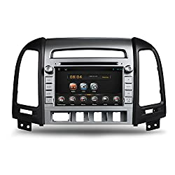 See Bosion 7 inch Auto Android DVD Player For HYUNDAI SANTA FE 2006 2007 2008 2009 2010 2011 2012 with GPS Navigation Color Silver 2Din Details