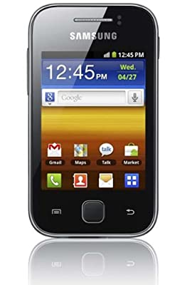 Samsung Galaxy Young S5360 Unlocked GSM Quadband Cell Phone Touch Screen International Version/Warranty Black