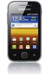 """Samsung Galaxy Y S5360 - Smartphone libre Android (pantalla 3"""", cámara 2 Mp, 0.15 GB, 830 MHz, 290 MB RAM), negro y plata"""