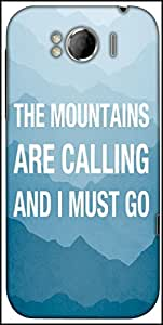 Snoogg Wanderlust Mountains Are Calling 2868 Designer Protective Back Case Cover For HTC Sensation Xl