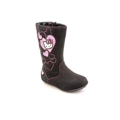Hello-Kitty-Lil-Sophia-Toddler-Girls-Size-6-Black-Fabric-Fashion-Mid-Calf-Boots