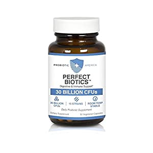 Probiotic America Perfect Biotics, Daily Probiotic Supplement for Digestive and Immune Support
