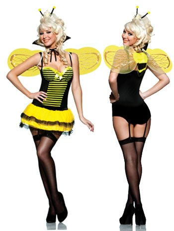 Sexy Queen Bee Costume - SMALL