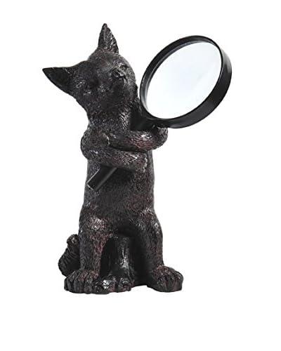 Fox Magnifying Glass Holder, Black