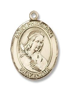 14kt Gold St. Philomena Medal
