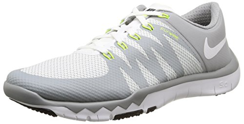 Nike Men's Free Trainer 5.0 V6 White/White/Wlf Gry/Mtllc Slvr Training Shoe 11 Men US