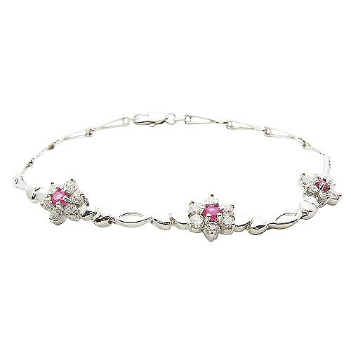 New Arrival 925 Sterling Silver Natural Light Purple Gem Bracelet