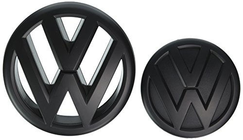 Black Front Grille & Rear Trunk Emblem Combo for Mk6 2012 VW Jetta Sedan (Vw Emblem Jetta Mk6 compare prices)