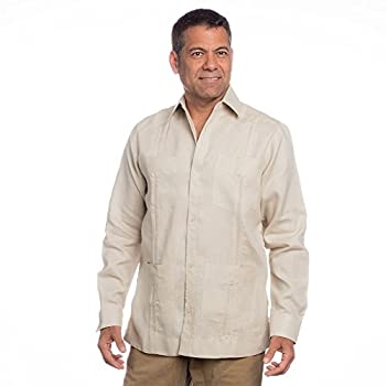 Mens mexican wedding shirt, linen guayabera shirt