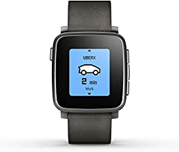 Pebble Time Steel Smartwatch for Apple/Android Devices - Black