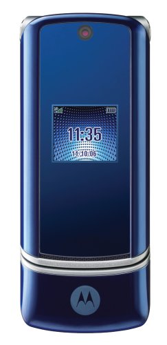 Motorola KRZR K1 Unlocked Cell Phone with 2 MP Camera, MP3/Video Player, MicroSD Slot--International Version with No Warranty (Cosmic Blue)