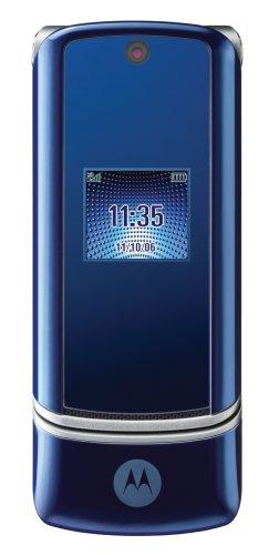 Motorola KRZR K1 Unlocked Phone with 2 MP Camera, MP3/Video Player, and MicroSD Slot--International Version with No Warranty (Cosmic Blue)