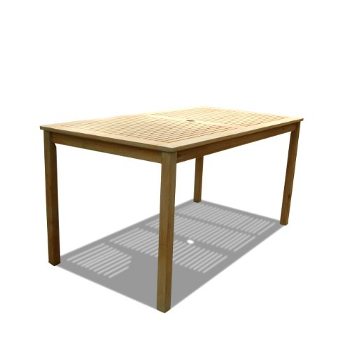 Vifah V1297 Renaissance Outdoor Hand-Scraped Hardwood Rectangular Table photo