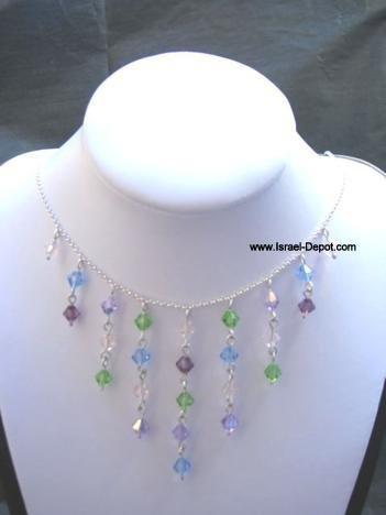 Swarovski Blue Green Violet Amethyst Multi Color Crystals Neckla