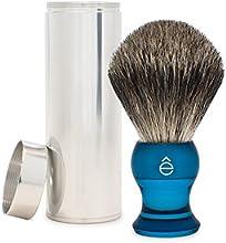 êShave Finest Badger Hair Travel Shaving Brush, Blue