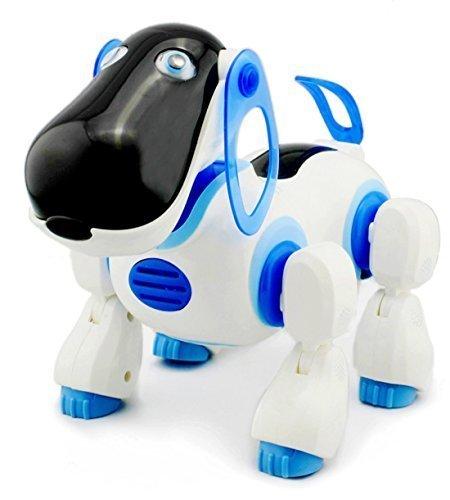 Chien robot Bleu intelligent- Jeux télécommande infrarouge (import Anglais)