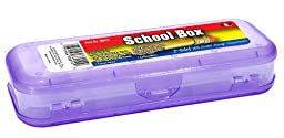 HQ Advance Products Plastic School Box, 2-Sided, Assorted Colors (38010)