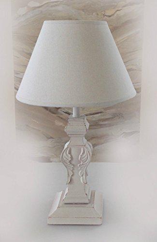 Charmanter-Landhaus-Tischleuchte-50-cm-Hohe-66-4-Holz-Nachttischlampen-Schreibtischleuchte-Schreibtischlampe-Broleuchte-Lampe-Antik-Retro-Leuchten-Stehleuchte