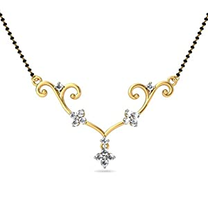 Certified 18K Yellow Gold 0.52 cttw White-Diamond (FG | VS) mangalsutra