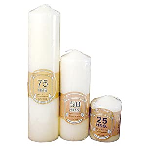 Thin Ivory Church Candle from White Candle Company