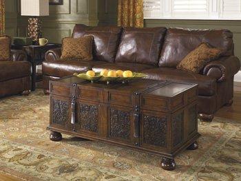Signature Design by Ashley McKenna Cocktail Table with Storage, Dark Brown 1