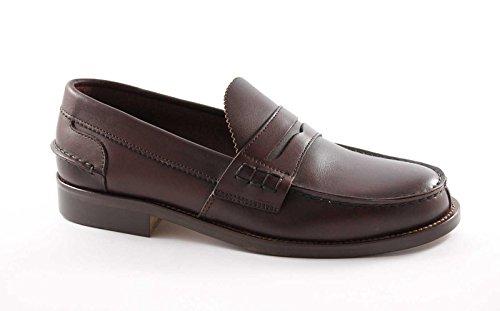 LION 1737 bordò scarpe uomo mocassini college original crichet line of scotland