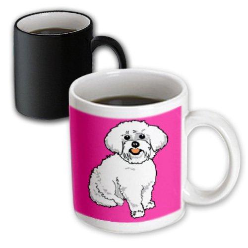 Mug_117471_3 Dooni Designs Retro Style Cartoons - Cute Retro Style Cartoon Maltese Puppy Dog Pet Animal On Pink - Mugs - 11Oz Magic Transforming Mug