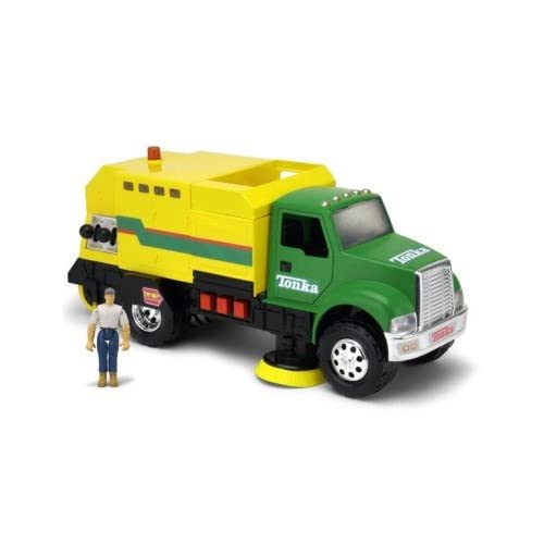 tonka mighty motorized street sweeper 1 figure toys games