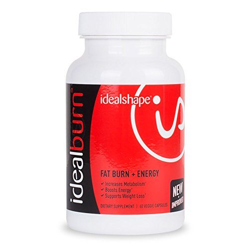 IdealBurn-Single-Bottle-by-IdealShape-Burn-Fat-Improve-Mood-and-Feel-Energized-Green-Tea-Leaf-Extract-Natural-Caffeine-and-Other-Energizers-Increase-and-Accelerate-Fat-Loss-While-Revving-Your-Metaboli