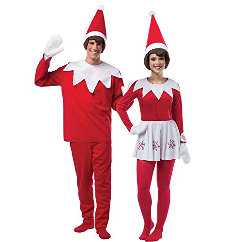Adult Elf on The Shelf Couples Costume