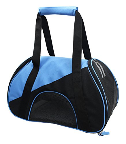 Airline Approved Zip-N-Go Contoured Pet Carrier, Blue, Black, One Size