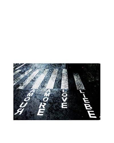 Oliver Gal Crosswalk Love Canvas Art