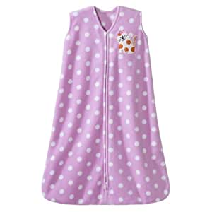 HALO SleepSack Micro Fleece Wearable Blanket, Print Girl, Medium (Discontinued by Manufacturer)