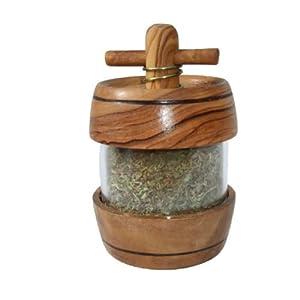 Olive Wood Herb Dispenser