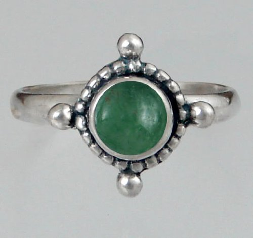Sterling Silver Filigree Ring Featuring a Genuine Jade Made in America