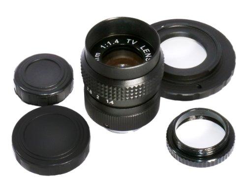 Nikon1 ニコン1 ボディ(J1、J2、J3、S1、V1、V2)用セット FUJIAN 25mm F/1.4 CCTV Cマウントレンズ + Cマウントレンズマウントアダプター (Nikon1ボディ用) + マクロ撮影用アダプター