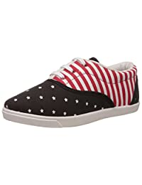 Nell Women's Black Black And Red Sneakers - 3.5 UK/India (36 EU)(HP2016-2)