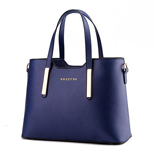 Women s PU Leather Shoulder Bags Top-Handle Handbag Tote Bag Simple Purse  Fashion Cross Body a65b6073cf