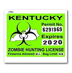 Kentucky ky zombie hunting license permit for Ky fishing license cost