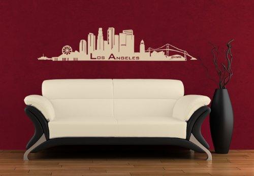 Wall Vinyl Sticker Decals Decor Art Bedroom Design Mural Words Sign Los Angeles Town City Skyline (Z976) front-1042919
