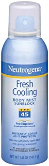 Neutrogena Fresh Cooling Body Mist Sunblock SPF 45 5 Ounce