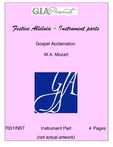 Festive Alleluia - Instrument parts - Gospel Acclamation - W.A. Mozart PDF