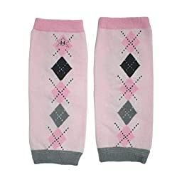 Hugglugs Baby Girls Pink Cheeky Argyle Legwarmers Infant