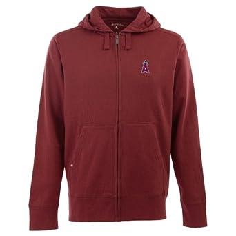 Los Angeles Angels Signature Full Zip Hooded Sweatshirt (Team Color) by Antigua