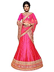 Silvermoon women's Banarasi Silk Embroidered heavy lehenga choli-sm_MIRNA91_Pink_free size